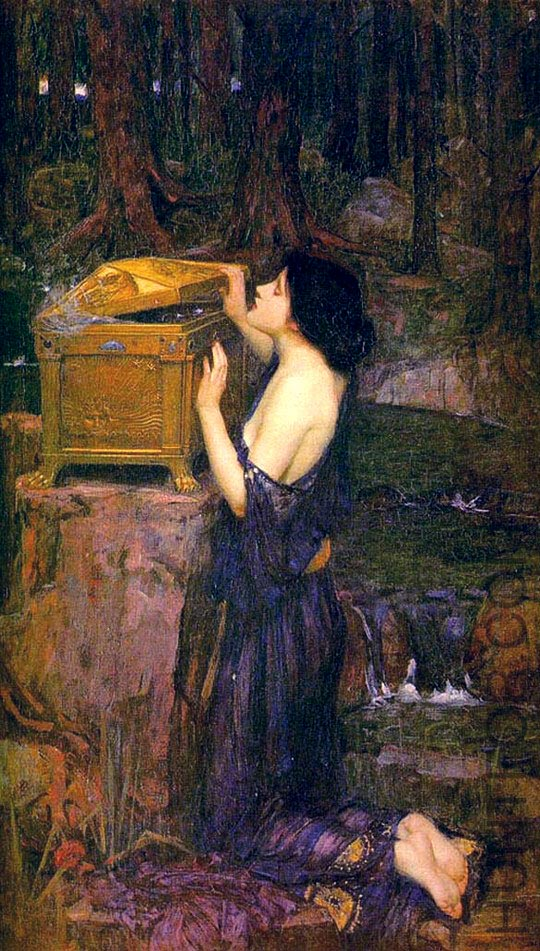 John william waterhouse_pandora - 1896