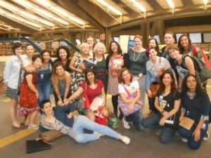 Algumas quadrinistas brasileiras no encontro promovido pela ASPAS