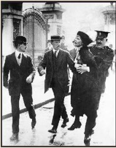 Pankhurst sendo presa em Londres