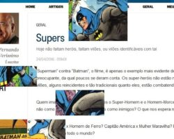 """Iluminamos: """"Supers"""" – um olhar sobre a coluna do Verissimo nO Globo de 24/04/2016"""
